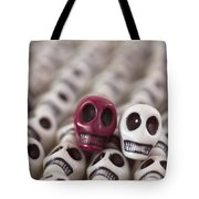 Maroon And White Tote Bag by Mike Herdering