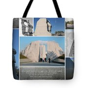Martin Luther King Jr Memorial Collage 1 Tote Bag by Allen Beatty