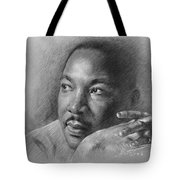 Martin Luther King Jr Tote Bag by Ylli Haruni