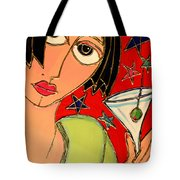 Martini Night Tote Bag by Cynthia Snyder
