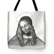 Mary After DaVinci Tote Bag by Genevieve Esson