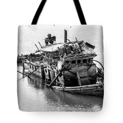Mary D Hume Shipwreck - Rogue River Oregon Tote Bag by Gary Whitton