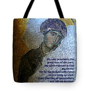 Mary's Magnificat Tote Bag by Stephen Stookey