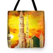 Masjid E Nabwi Tote Bag by Catf