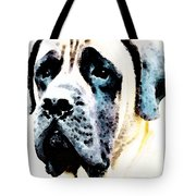 Mastif Dog Art - Misunderstood Tote Bag by Sharon Cummings