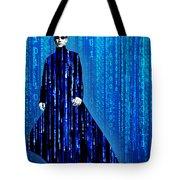 Matrix Neo Keanu Reeves Tote Bag by Tony Rubino