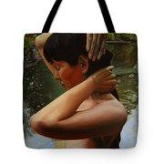 May Morning Arkansas River 3 Tote Bag by Thu Nguyen
