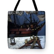 Mayflower Model With Quadrant Tote Bag by Fred Maroon
