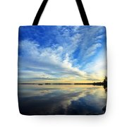 Meddybemps Reflections 4 Tote Bag by Bill Caldwell -        ABeautifulSky Photography