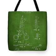 Medical Instruments Patent From 2001 - Green Tote Bag by Aged Pixel