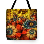 Medieval Ceremonial-fractal Art Tote Bag by Karin Kuhlmann