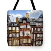 Medieval Houses In Rennes Tote Bag by Elena Elisseeva