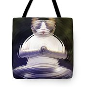 Meditation Kitty Tote Bag by Elizabeth McTaggart