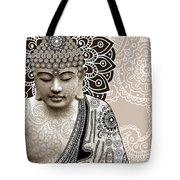 Meditation Mehndi - Paisley Buddha Artwork - copyrighted Tote Bag by Christopher Beikmann