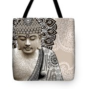 Meditation Mehndi - Paisley Buddha Artwork - Copyrighted Tote Bag by Christopher Beikmann
