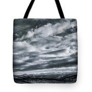 Melancholia Mountains And Even More Mountains Tote Bag by Priska Wettstein