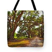 Memory Lane Oil Tote Bag by Steve Harrington