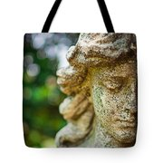 Memphis Elmwood Cemetery - Girl With Cross Close-up Tote Bag by Jon Woodhams
