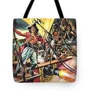 Men Of The Jolly Roger Tote Bag by Ron Embleton