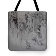 Mercy Sketch Tote Bag by Jani Freimann