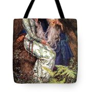Merlin And Vivien Tote Bag by Eleanor Fortescue Brickdale