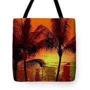 Metallic Sunset Tote Bag by Athala Carole Bruckner