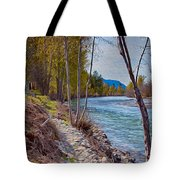 Methow River Coming From Mazama Tote Bag by Omaste Witkowski