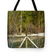 Methow River Springtime Tote Bag by Omaste Witkowski