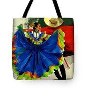 Mexican Dancers Tote Bag by Elisabeta Hermann