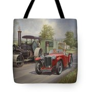 MG sports car. Tote Bag by Mike  Jeffries