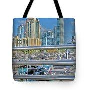 Miami Marina Tote Bag by Claudia Mottram