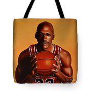 Michael Jordan 2 Tote Bag by Paul Meijering