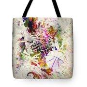 Michael Jordan Tote Bag by Aged Pixel