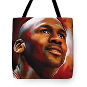 Michael Jordan Artwork 2 Tote Bag by Sheraz A