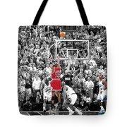 Michael Jordan Buzzer Beater Tote Bag by Brian Reaves