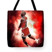 Michael Jordan Tote Bag by NIcholas Grunas Cassidy