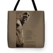 Michael Jordan - Practice Tote Bag by Richard Tito