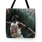 Michael Jordan Tote Bag by Ylli Haruni