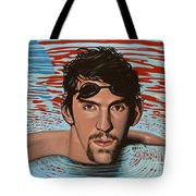 Michael Phelps Tote Bag by Paul Meijering