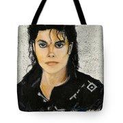 Michaeljacksoninoilpastel Tote Bag by Lance Sheridan-Peel