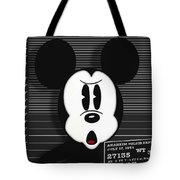 Mickey Mouse Disney Mug Shot Tote Bag by Tony Rubino
