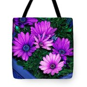 Midnight Blue Tote Bag by Mo T