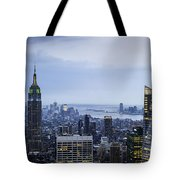 Midtown Manhattan Tote Bag by Ray Warren