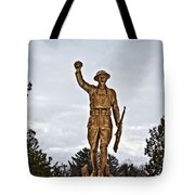 Military Soldier Memorial Tote Bag by Ms Judi