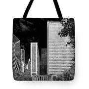 Millennium Park Monument - The Colonnade - Wrigley Square Chicago Tote Bag by Christine Till