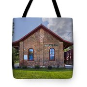 Mineral Bluff Station Tote Bag by Debra and Dave Vanderlaan