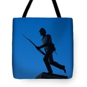 Minnesota Soldier Monument At Gettysburg Tote Bag by John Greim