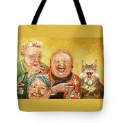 Miriam's Tea Party Tote Bag by Shelly Wilkerson