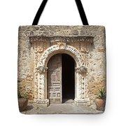 Mission San Jose Chapel Entry Doorway Tote Bag by John Stephens