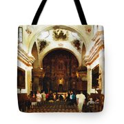 Mission San Xavier Del Bac Tote Bag by Bob and Nadine Johnston